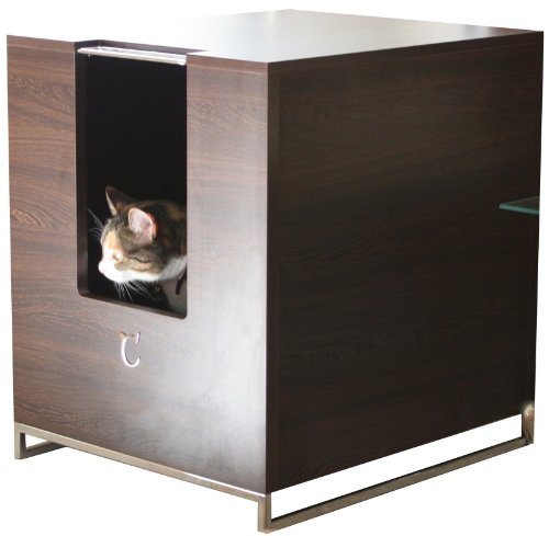 Cool cat tree plans discreet litter box furniture reviews - Modern kitty litter box ...