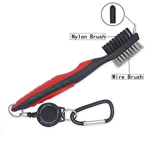 giwox-golf-pinsel-reiniger-dual-einseitig-mehrzweck-ball-clip-reinigungsset-einteilig-rot-schwarz