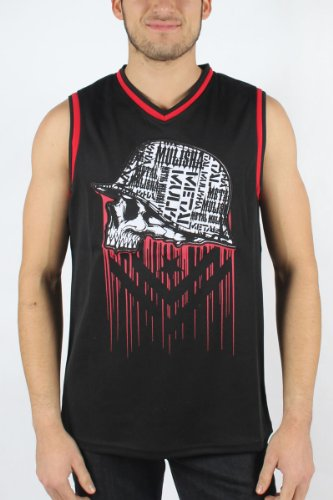Metal Mulisha - Mens Foreign Tank Top in Black/Red, Size: Small, Color: Black/Red