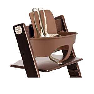 stokke tripp trapp baby set walnut brown. Black Bedroom Furniture Sets. Home Design Ideas
