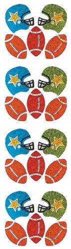 Jillson Roberts Prismatic Stickers, Mini Football, 12-Sheet Count (S7137)