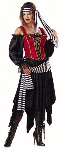 Adult Pirate Wench Costume (Size:Medium 8-10)