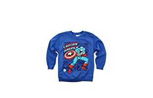 MARVEL Sudadera Captain America (Azul Royal)