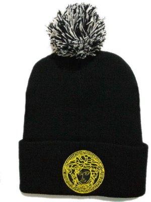 Gu Versace palla beanie inverno femminile cappello di lana cappello a  maglia maschio marchio cappello di 62c2492633a6