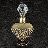 StealStreet SS-A-51681 3-1/8-Inch Perfume Bottle, Jewlry Gold