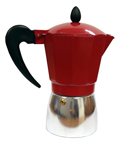 IMUSA USA Aluminum 3-Cup Coffeemaker, Red