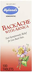 Hyland's BackAche with Arnica Tablets, Natural Lower Back Pain Relief, 100 Count