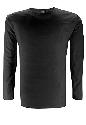 Replika-Maglietta da uomo a maniche lunghe Replika, colore: nero nero XX-Large