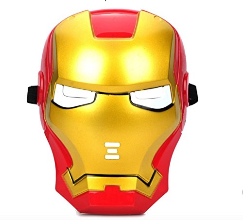 IRON MAN Maske für Erwachsene und Kinder Superheld Halloween Karneval Horror Einheitsgröße Theater Kostüm Horrormaske thematys®