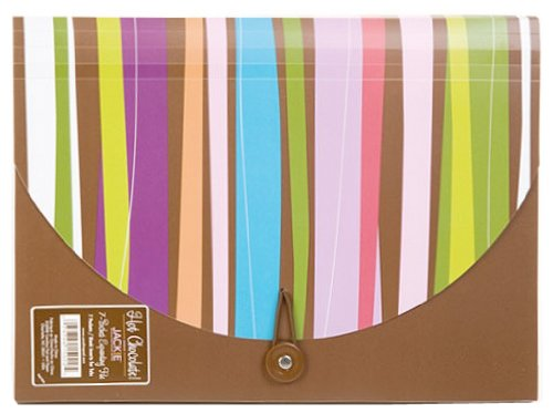 Carolina Pad Hot Chocolate 7-Pocket Accordion Folder Pixie Sticks Design, 9.25 x 11.75x .5 Inches (15022)