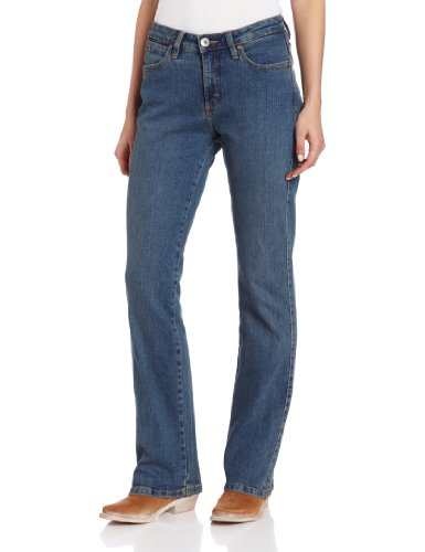 Aura from the Women's at Wrangler Women's Instantly Slimming Jean, Tinted Mid-Stone, 12 x AVG