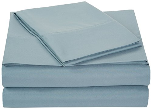 Learn More About AmazonBasics Microfiber Sheet Set - Twin Extra-Long, Spa Blue