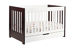 babyletto Mercer 3-in-1 Convertible Crib with Toddler Rail, Two Tone