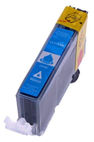 Merotoner® - Tintenpatrone für Canon CLI 526 , CLI 526 mit Chip Canon Pixma kompatibel (Cyan/Blau)