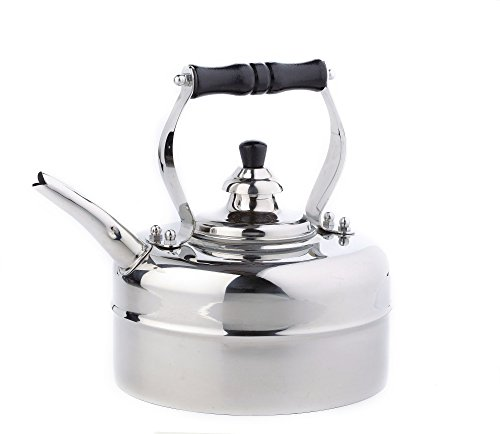 3 Qt Whistling Tea Kettle Stovetop Compatible: Gas Electric Glass; Stainless Steel, Silver (Allclad Tea Kettle compare prices)