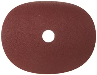 "Merit Resin Abrasive Disc, Fiber Backing, Aluminum Oxide, 7/8"" Arbor, 7"" Diameter, Grit 80  (Box of 5)"