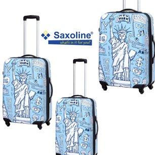 SAXOLINE Trolley-Koffer-Set 3-tlg. 71+61+49cm