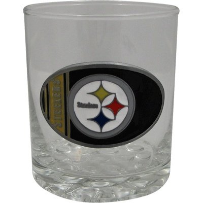 Steelers Tumbler Pewter Oval Logo