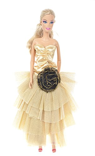 Banana Kong Doll's Layered Dress Gown With A Black On Front