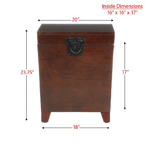 SEI Espresso Pyramid Trunk End Table