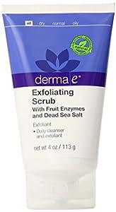 derma e Exfoliating Scrub Fruit Enzymes and Dead Sea Salt Exfoliant, 4 oz