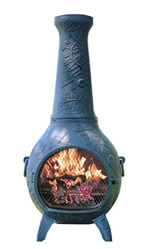 Chiminea-Outdoor-Fireplace-Wood-Burning-Dragonfly-Design