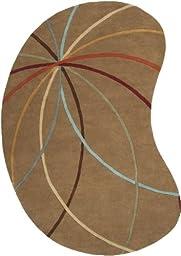 Surya Forum Mocha-Burgundy Kidney 6\'x9\' Contemporary Area Rug