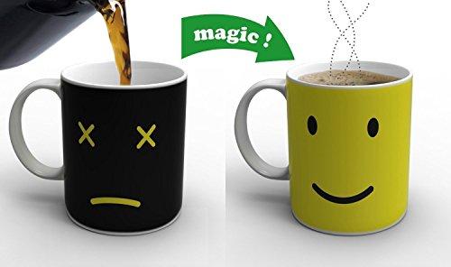 Mug Tazza,Cozyswan 330 ml Magica Mug porcellana tè caffè acqua calda colore cambiando Tazza sensibile al calore Tazza
