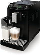 Saeco HD8763/01 Minuto Kaffeevollautomat (Keramikmahlwerk, Milchbehälter) schwarz