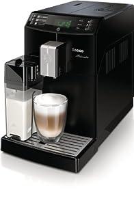 Saeco HD8763/01 Minuto Kaffeevollautomat, Keramikmahlwerk, Milchkaraffe, schwarz