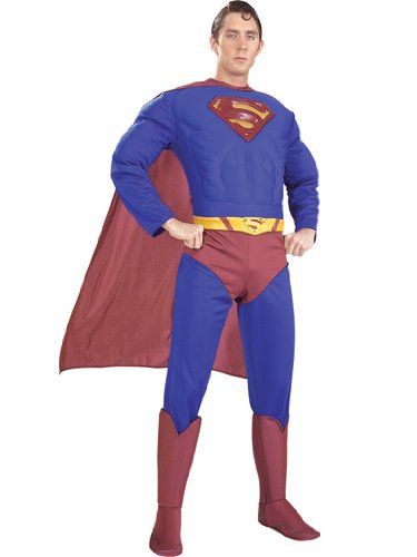 Superhero Men's Superman Theatre Costumes Comic Book Superhero Costume