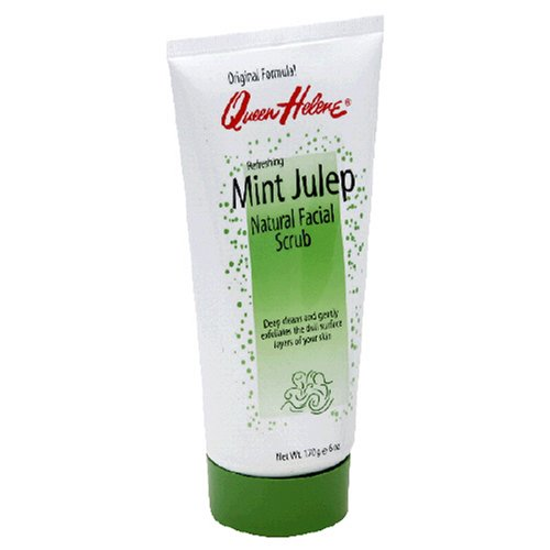 Queen Helene Mint Julep Natural Facial Scrub, 6-Ounce Tube (Pack of 6)