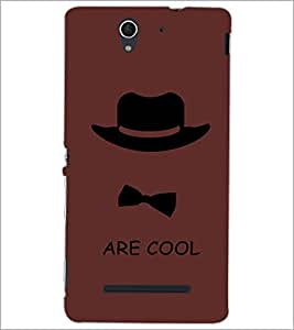 PrintDhaba Mr Cool D-5849 Back Case Cover for SONY XPERIA C3 (Multi-Coloured)
