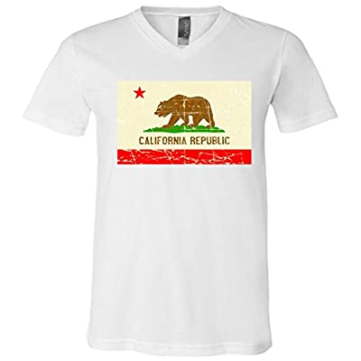 Vintage California Republic Flag V-Neck T-Shirt