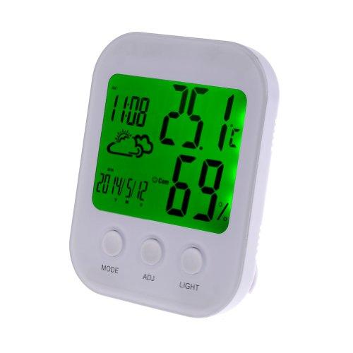 Neewer® 3 in 1 Digital Thermometer Hygrometer Humidity Temperature Meter Clock Alarm (TH-202)