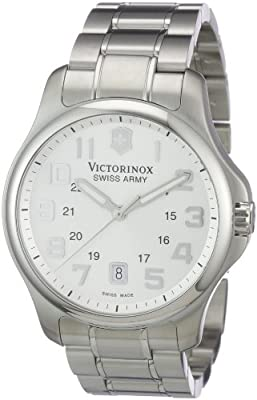 Victorinox Swiss Army Men's SWISSA-241359 Officer's Stainless Steel Watch by Victorinox Swiss Army