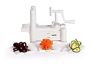 Spiralite Vegetable Spiralizer by Spiralz with No Quibble Lifetime Guarantee