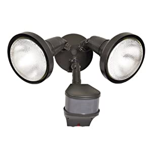 Cooper Lighting All Pro Outdoor Security MS276RD 270-Degree Motion-Activated Security Floodlight 200-Watt Par Halogen with Precision Plus Dopple at Sears.com