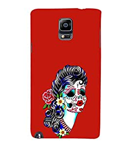 EPICCASE Girl with Flower Essence Mobile Back Case Cover For Samsung Galaxy Note 4 EDGE (Designer Case)