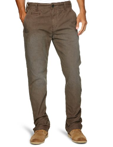 Timberland Lynnwood Garment Dye Chino Straight Men's Trousers Cocoa W32INxL32IN