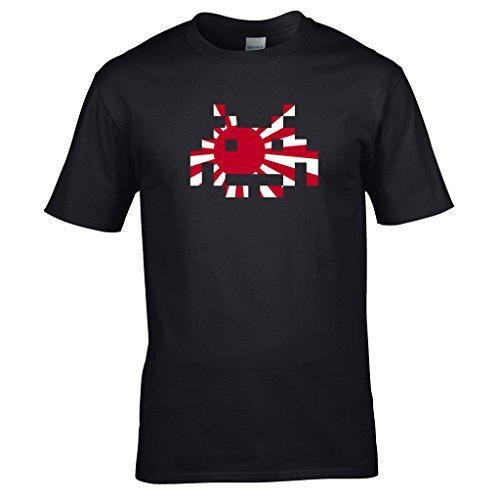 Naughtees clothing - Japanese flag Space Invader XXL black