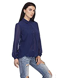 Femella Women's Shirt (DS-1599572-907_Navy_Large)