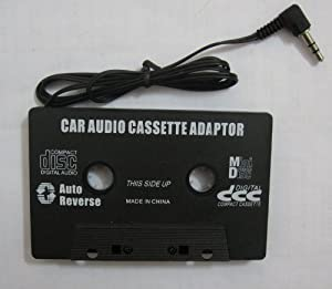 LMLS Car Cassette Audio Adapter - 3.5mm Plug - Play your Mobile Phone & MP3 music through your car stereo via tape player - Black Coloured - Stereo - Works with ANY car cassette player guaranteed