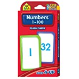 Numbers 1-100 Flash Cards by School Zone Publishing Company Staff