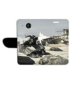 KolorEdge Printed Flip Cover For HTC Desire 601 - Multicolor(47KeMLogo8086HTC601)