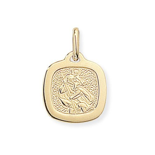 9ct Gold St Christopher Square Pendant