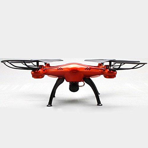 Syma® X5SC-1 Drone Falcon / Cuadricópteros Teledirigido RC 3D 360 Grados 4CH 6 Axis 2.4GHz con 2.0MP Cámara [ Función de Grabación Fotográfica Aérea ] - Quadcopter (Rojo)