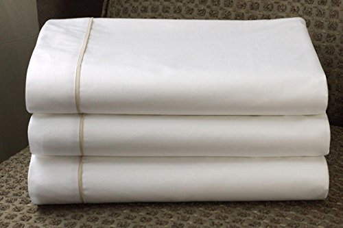 Westin Hotel 600TC Middle Sheet with Taupe Trim Piping - Queen (Westin Hotel compare prices)