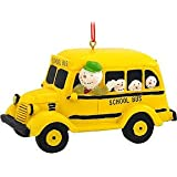 1 X Snowman Driving Bus Resin Christmas Ornament