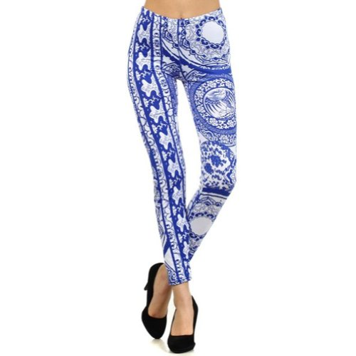 Lady's Fine China Printed Leggings
